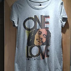Bob Marley One Love grey short sleeve top